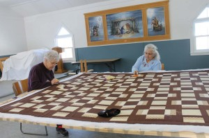 Beatrice and Marlene are already working on a new quilt