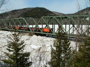 The Train Bridge just before it was wiped out