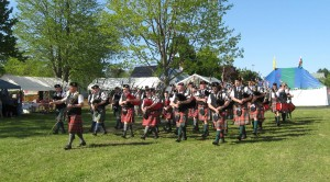 Marching Pipe Band at the Gathering of the Scots