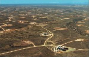 A barren fracking field