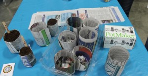 Finished seedling pots ready to be filled and planted