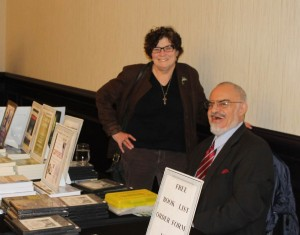 Blackfly editor  Stephanie with New Brunswick's own UFO Researcher Stanton Friedman at the Modern Knowledge Tour presentation