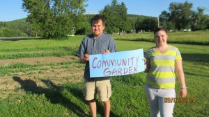 Luke and Mackayla are proud to have a plot in the community garden.