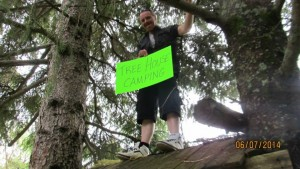 Chris thinks that a tree house campground or cottages  in the trees  would be totally awesome!